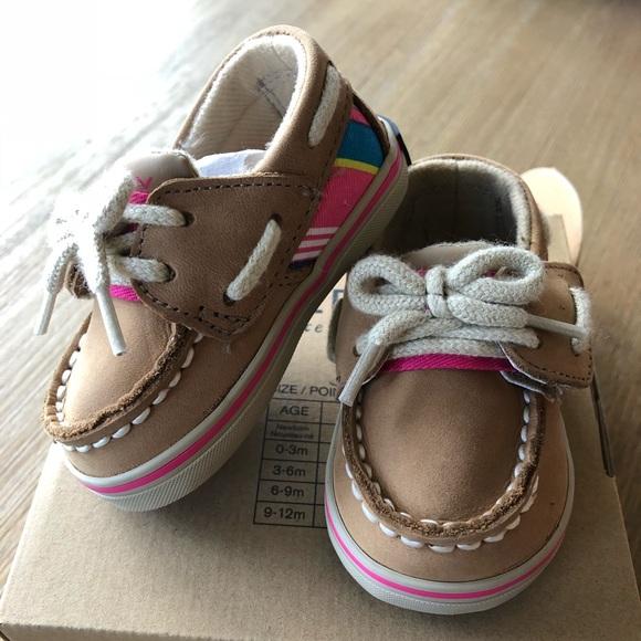 Nib Sperrys Infant C Girls Boat Shoes